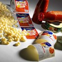 Self-adhesive labels for ravioli and pasta manufacturers